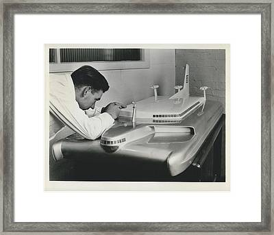 Air-cushioned Travel For 300 Passengers Framed Print by Retro Images Archive