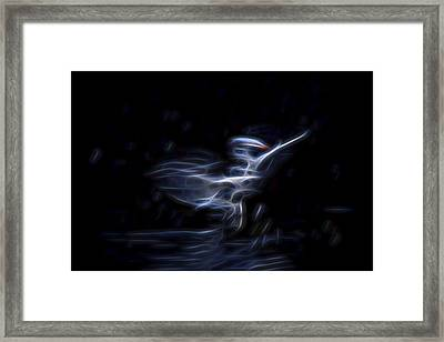 Framed Print featuring the digital art Air Elemental 1 by William Horden