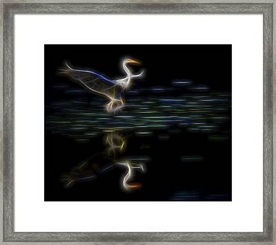 Framed Print featuring the digital art Air Elemental 2 by William Horden