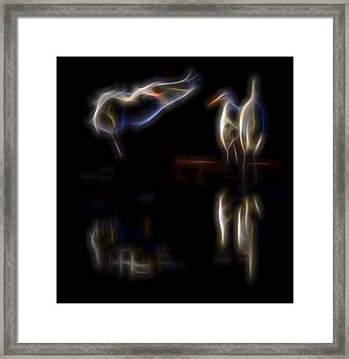Framed Print featuring the digital art Air Elementals 1 by William Horden