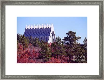 Air Force Academy Chapel In Autumn Framed Print