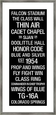 Air Force College Town Wall Art Framed Print by Replay Photos
