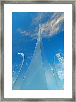 Framed Print featuring the photograph Air Force Memorial by Michael Donahue