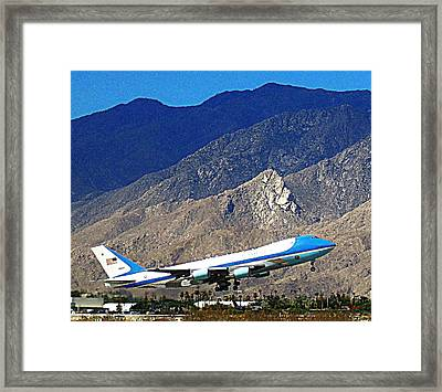 Air Force One 1 Framed Print by Ron Kandt