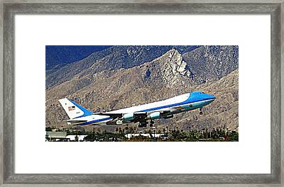 Air Force One 2 Framed Print by Ron Kandt