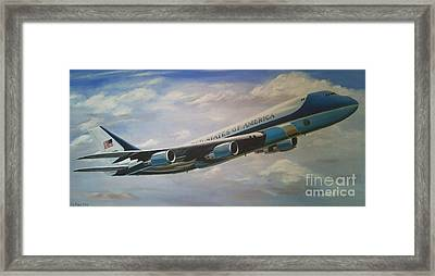 Air Force One 89th Airlift Wing 6 X 3 Feet Framed Print