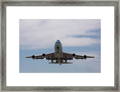 Air Force One Aloft Framed Print by John Daly
