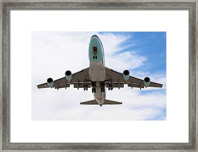 Air Force One Flyover Framed Print by John Daly