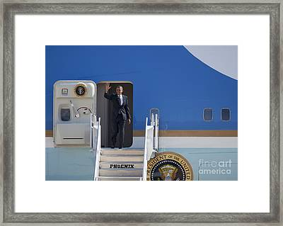 Air Force One Framed Print by Jim West