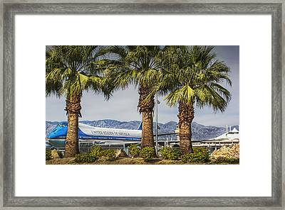 Air Force One's Vacation Framed Print by Jay Hooker