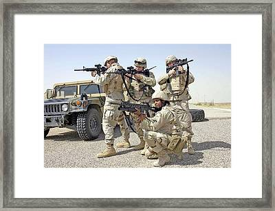Framed Print featuring the photograph Air Force Squadron by Science Source