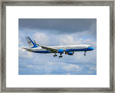 Air Force Two Framed Print by Puget  Exposure