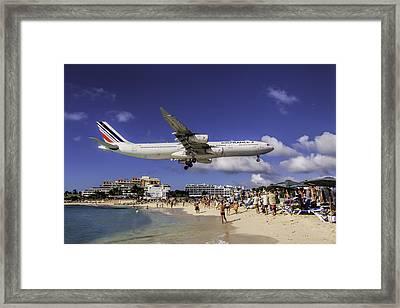 Air France St. Maarten Landing Framed Print