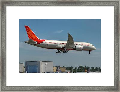 Air India 787 Framed Print by Jeff Cook