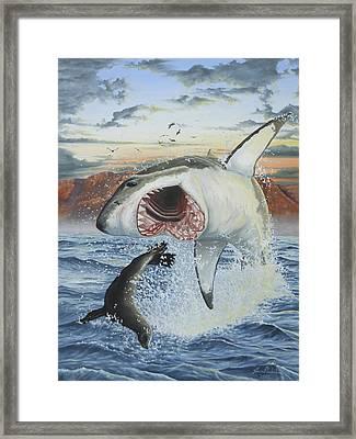 Air Jaws Framed Print by Jason Nicholson