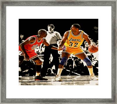 Air Jordan On Magic Framed Print
