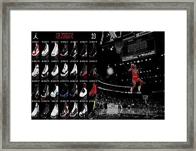 Air Jordan History Of Flight Framed Print