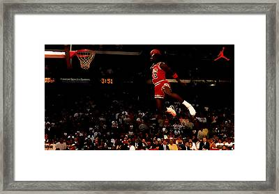 Air Jordan In Flight Framed Print