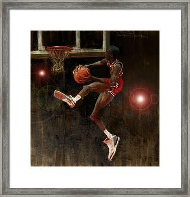 Air Jordan Framed Print by Jumaane Sorrells-Adewale