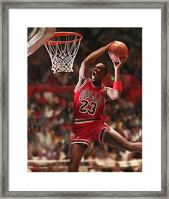Air Jordan Framed Print by Mark Spears