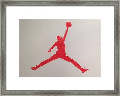 Air Jordan Framed Print by Peter Virgancz