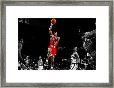 Air Jordan Return From Retirement Framed Print by Brian Reaves
