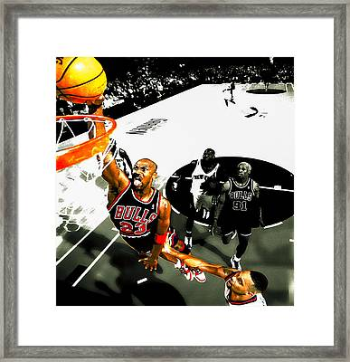 Air Jordan Rises Framed Print by Brian Reaves