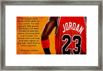 Air Jordan Success Quote Framed Print