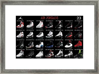 Air Jordan Shoe Gallery Framed Print by Brian Reaves
