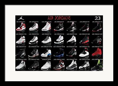 Basketball Shoe Framed Prints