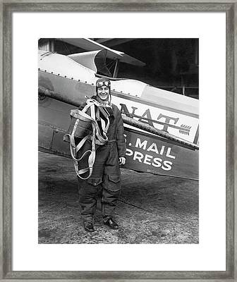 Air Mail Pilot Speed Record Framed Print