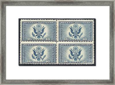 Air Mail Special Delivery Framed Print