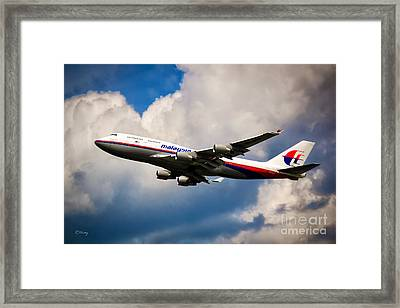Malaysia Airlines B-747-400 Framed Print