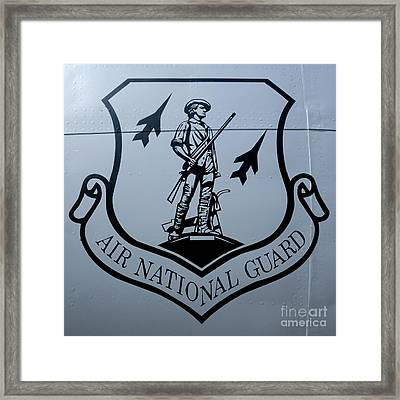 Air National Guard Shield Framed Print by Olivier Le Queinec