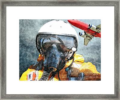 Air Pilot Framed Print by Liane Wright