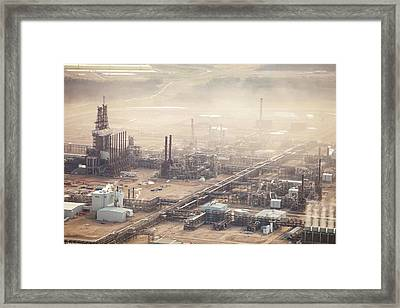 Air Pollution From Syncrude Tar Sands Framed Print by Ashley Cooper