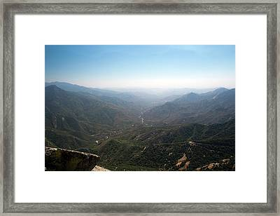 Air Pollution Over Sequoia National Park Framed Print by Jim West