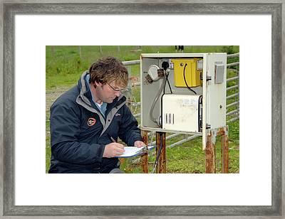 Air Quality Monitoring Framed Print