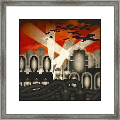 Air Raid Framed Print
