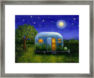 Airstream Camper Under The Stars Framed Print