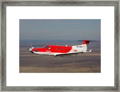 Air To Air Pc 12 Framed Print by Paul Job
