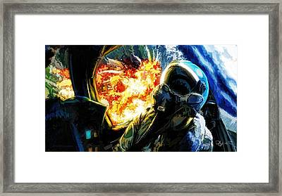Framed Print featuring the painting Air To Ground by Dave Luebbert
