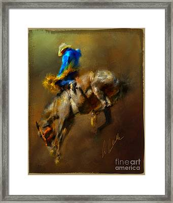 Airborne Cowboy Framed Print by Andrea Auletta