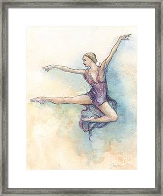 Framed Print featuring the painting Airborne by Lora Serra