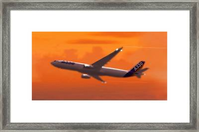 Airbus 330 Framed Print by Marcello Cicchini