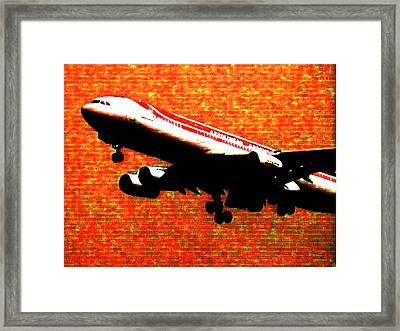 Airbus 340 Framed Print by Marcello Cicchini