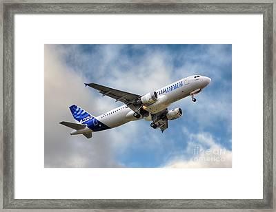 Airbus A320 Framed Print by Steve H Clark Photography