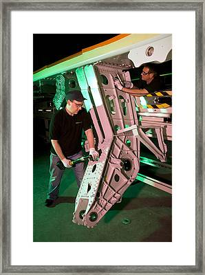 Airbus A350 Xwb Wing Manufacturing Framed Print by Science Photo Library