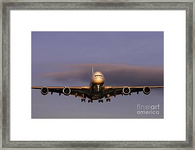 Airbus A380 Framed Print by Colin Woods