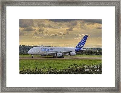 Airbus A380   Evening Taxi Framed Print